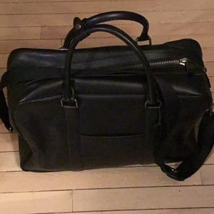 New men's Coach overnight crossbody leather bag
